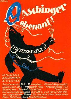 Aschinger obenauf! Silvesterfeier mit Tanz, Berlin, um 1937.
