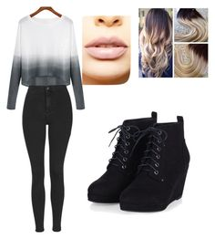 Ombere Overall by diazmermaid on Polyvore featuring polyvore fashion style Topshop LASplash clothing