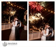 Ending this yacht wedding in Destin with a bang!