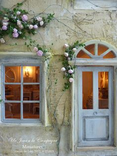 * ♥ Lea Workshop - A Day in the Country ♥ * La Villa des Roses. I love the view through the windows.