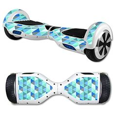 MightySkins Protective Vinyl Skin Decal for Hover Board Self Balancing Scooter mini 2 wheel x1 razor wrap cover Blue Kaleidoscope *** Find out more about the great product at the image link.