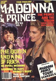 purplepersuasion:  madonnascrapbook:  Madonna and Prince: The Queen and King of Rock.  Tabloids always running wild