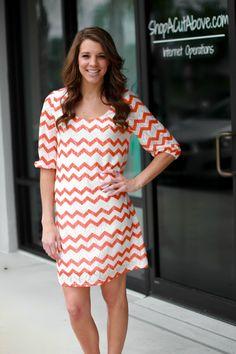 Chevron Lace Dress – Orange | A Cut Above Boutique, Inc.