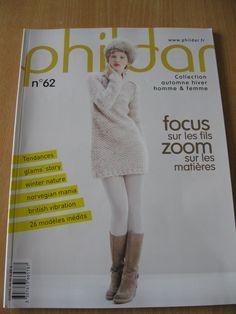 Catalogue PHILDAR n°62 - Automne / Hiver - Homme & femme. 26 modèles inédits. : Matériel Tricot par krupsy