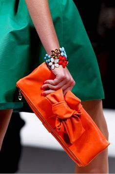 Unexpected color combination of #Emerald and #Orange