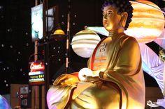 Sitting Buddha at the Wesak Day (Vesak Day) parade in Kuala Lumpur, Malaysia.