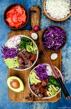 Köstliche Rezepte für Poke Bowls #pokebowl #foodtrend #foodbowl