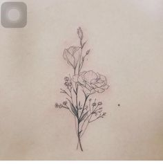 Delicate Wildflower Tattoo