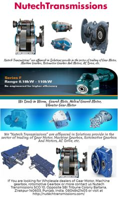 Nutech Transmission is certified dealer in trading an extensive range of helical gear boxes, electric motor, worm gearbox, mechanical Variator gearbox wholesale dealers in Mohali, Chandigarh. Contact us today. http://nutechtransmissions.com/