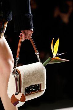 Fur purse. Fendi Fall 2015