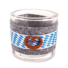 Kerzenglas Bayernraute Oktoberfest, 80 mm
