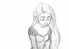 Rapunzel, from 2010's Tangled. | 9 Beautiful Hand-Drawn Animations From Disney Films Can you believe this is handrawn???