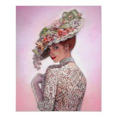 Victorian Lady Decor Portrait Art poster