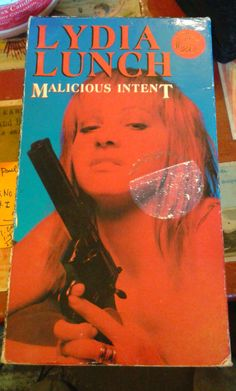 Lydia Lunch Malicious Intent VHS Out of Print by WilburVintage, $20.00