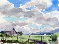 Watercolor sky - Robert Bock