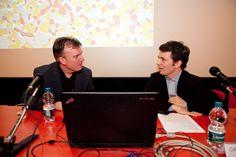René van Zuuk con il coordinatore dell'incontro Davide Tommaso Ferrando a #lookingaround 19 marzo 2015 © Jana Sebestova #vanzuuk