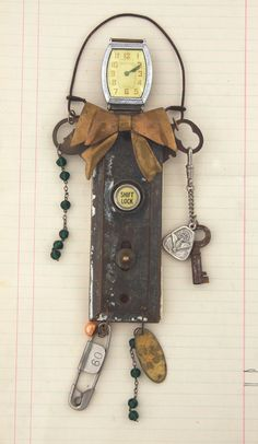 Junk Yard Muse Assemblage Art Doll by jeanettejanson on Etsy, $60.00