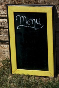 Custom Chalk Board Made to Order by CaliforniaRustic on Etsy, $30.00