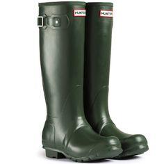 907e2ad47f3e Mens Hunter Wellington Boots Original Tall Rainboots Snow Wellies New -  Dark Olive - 9 -
