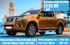 Nissan Navara Diesel Double Cab Pick Up Tekna 190 Model Supplies, Lease Deals, Nissan Navara, Diesel, June, Diesel Fuel