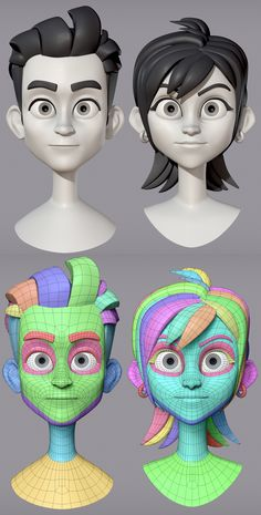 Zbrush Character, 3d Model Character, Game Character Design, Character Design Animation, Character Modeling, Character Drawing, Animation Sketches, Cartoon Sketches, 3d Cartoon