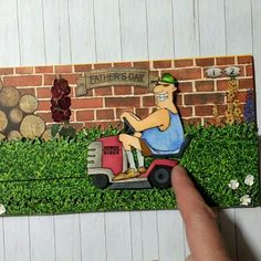 Art Impressions Lawn Ranger Set (Sku#4102) Ai People... handmade  masculine Father's Day or birthday card