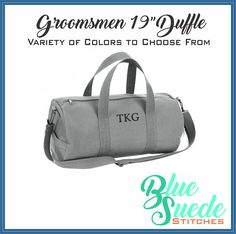 Our Canvas duffle bag combines rugged durability with classic style making the perfect Groomsmen Gift. From its sturdy 100% cotton military grade canvas, to its heavyweight webbed cotton carry handles, our overnight travel bag is made to outlast generations of nylon duffle bags in both quality and style. Give a gift theyll use for years to come!  This travel bag is a favorite groomsmen gift choice and is ideal as an overnight bag or a weekend bag.   *-:¦:-•:**:•.-:¦:-•:*About the bag…