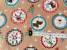 Beige Baubles Dogs Christmas Fabric, Cotton Fabric, Holiday Fabric Dog Fabric Christmas Fabric, Christmas Dog, Fabric Crafts, Cotton Fabric, Kids Rugs, Beige, Crafty, Holiday Decor