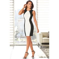 Women Dress New Color Stitching Sleeveless Vest Dresses Plus Size Black And White Splice Sexy Dress Vintage Office #Affiliate