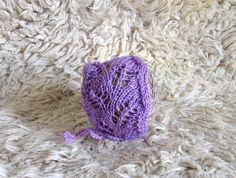 Newborn Pixie Bonnet Hat Photo Prop Hat Baby Knit by recyclingroom, $14.00