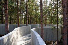 Image 11 of 23 from gallery of Sohlbergplassen Viewpoint / Carl-Viggo Hølmebakk. Photograph by Carl-Viggo Hølmebakk Landscape Architecture Design, Contemporary Architecture, Interior Architecture, Planer Layout, Urban Planning, Urban Landscape, Forest Landscape, Garden Landscaping, Landscaping Tips