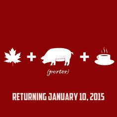 Funky Buddha Maple Bacon Porter will be released again on January 10th, 2015.