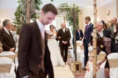 Careys Hotel wedding at Brockenhurst, New Forest. With branch archway by Little Lillies.