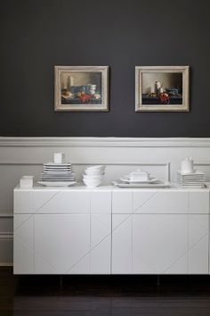 With plenty of storage and a large surface on which to display decorative items, sideboards make a fab dining room addition. Kitchen Inspirations, Decor, Inspiration, House, Fishpools, Home, Storage, Room Additions, Room