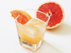 Salty Dog. Essentially it's a Greyhound (gin and grapefruit juice) with a salted rim.