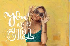 Girl power - lettering set by beauty drops on @creativemarket
