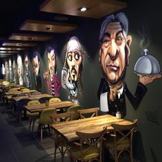 pognote 10 Cool Cafe Cafe Order Ideas WA: 081977713154 If you want to get c Pub Design, Coffee Shop Design, Store Design, Mural Cafe, Deco Restaurant, Graffiti Restaurant, Restaurant Interior Design, Cool Cafe, Shop Interiors