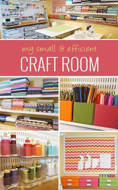 Great Craft Room Organization! - Helpful tips and tricks for making the most out of a small craft space - Two More Minutes