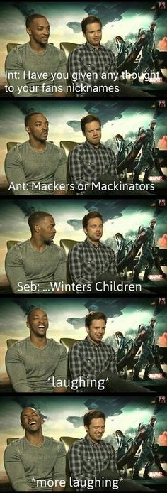 Their interviews are just awesomely hilarious and great to watch - Seb and Anthony