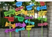 """oh the places you'll go """"signs""""   Cute idea for a graduation or retirement!"""