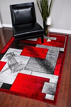 Latitude Run Alycia Gray/Red Indoor/Outdoor Area Rug Rug Size: x