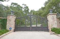 luxury iron gates | Custom Luxury Ornamental Wrought Iron Driveway Gates, Property Gates ...