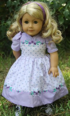 Light purple embroidered dress by stitching with Elli