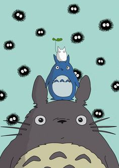 Cloudy with a chance of Soot Sprites by nooriginalnames Hayao Miyazaki, Cute Cartoon Wallpapers, Animes Wallpapers, Totoro Drawing, Personajes Studio Ghibli, Film Animation Japonais, Studio Ghibli Art, Studio Art, Morning Cartoon