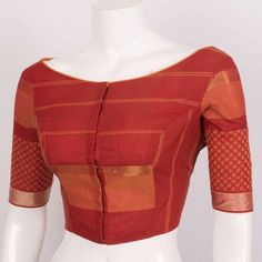 Hand Crafted Cotton Blouse With Lining & Long Sleeve 10015300 - size 40 - AVISHYA.COM