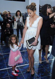 Jennifer Lopez & her daughter Emme Maribel Muniz   @ chanel spring 2013 #PFW paris #Fashion Week