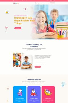 This WordPress theme is well made for parents, kids, and children. Describe your school classes, faculty, facilities, courses, teachers, events, academic systems, and other activities. Using this best kids & children education theme you can show your creativity in educating preschool children, kids care, kids school website, children website template, kids courses, kids learning app. Kids Learning Apps, Educational Programs, School Sports, Kids Education, Website Header Design, Wordpress Theme Design, Web Design Services, Pre School, Childcare