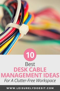 10 Best Desk Cable Management Ideas For A Clutter-free Workspace – office organization at work cubicle Office Organization At Work, Cord Organization, Work Cubicle, Cubicle Ideas, Hide Computer Cords, Cleaning Schedule Printable, Hide Cables, Getting Rid Of Clutter, Best Desk