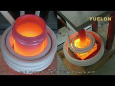 "Induction Heater - 6"" Coil vs. 1/2"" bar - YouTube"