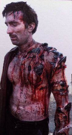 Prosthetic makeup, face and torso. SFX prosthetics and accessories from the film District 9